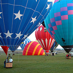 Hot Air Balloon Rides in Orlando Florida Balloons ready for liftoff